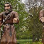 Reuzenfair in openluchtmuseum Ellert en Brammert