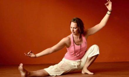 Yogasessie in Zuster Mohrpark