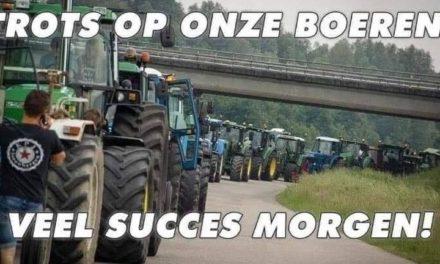 Inwoners gemeente Coevorden betuigen steun aan boeren