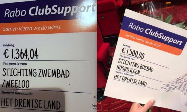 Cheques Rabo ClubSupport uitgereikt