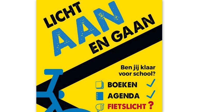 Controle op fietsverlichting: maak kans op prijzen