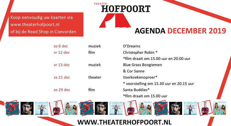 Maandagenda december 2019 - Theater Hofpoort Coevorden