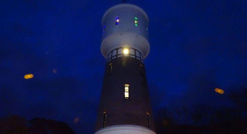 Watertoren wordt vanaf vandaag weer verlicht
