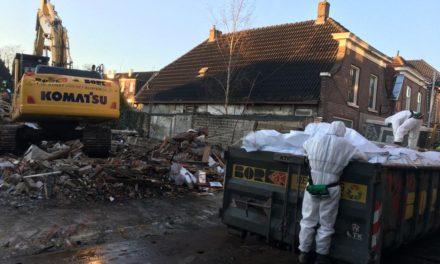 Puin Sallandsestraat wordt geruimd