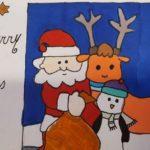 Kinderen Parkschool maken kerstkaarten voor ouderen