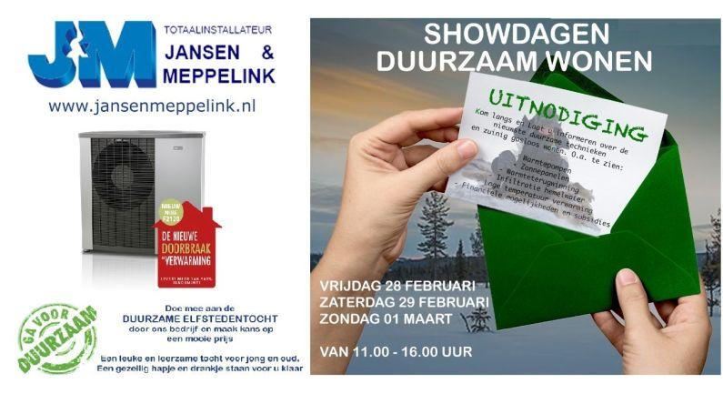 Jansen Meppelink houdt show 'Duurzame energie'