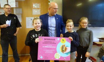 Groep 5b van Willibrordusschool wint Kindermenu 2.0