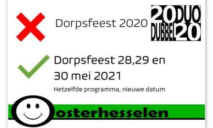 Dorpsfeest Oosterhesselen gaat naar 2021