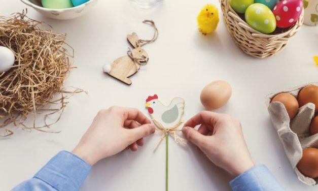 Kinderen kunnen knutselen voor Pasen!