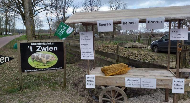 Boeren helpen boeren: aardappelverkoop bij 't Zwien