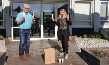 Marije brengt handcrèmes naar Aleida Kramer en De Schutse