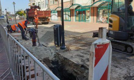 Aanleg nieuwe waterleiding in centrum