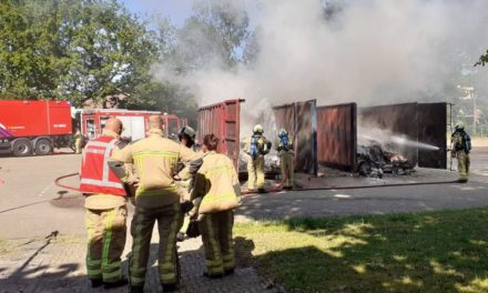 Brand in papiercontainers