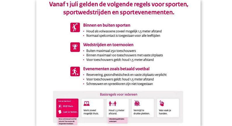 Sportprotocol verdwijnt: melding activiteiten vervalt daarmee