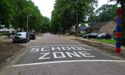 Schoolzone in Dalen is duidelijk zichtbaar
