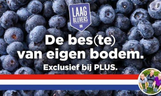 Plus verkoopt bessen van Blauwe Bes Drenthe
