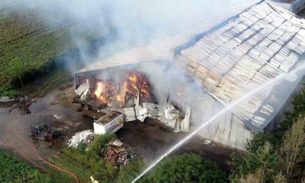 Grote brand in loods Schoonoord