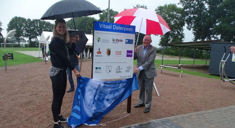 Fitnesspark Dalerpeel in stromende regen geopend