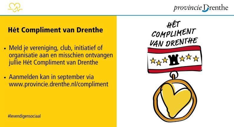 Wie verdient 'Hét compliment van Drenthe'?