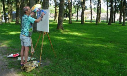 Kunstenaars aan het werk in Aalden en omgeving