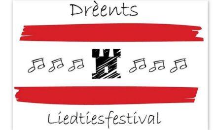 Dreènts Liedtiesfestival staat weer op programma