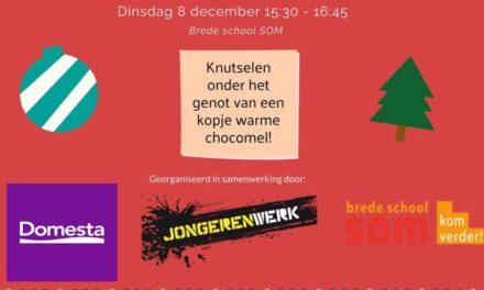 Vandaag: kerststerren knutselen in brede school
