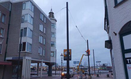 Deel Friesestraat krijgt hangende verlichting