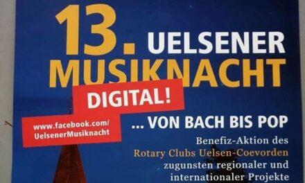 Uelsener Musiknacht is ditmaal online