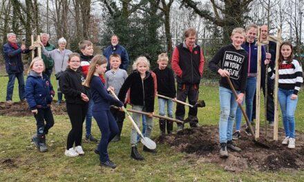 Werkgroep biodiversiteit in Wachtum plant bomen