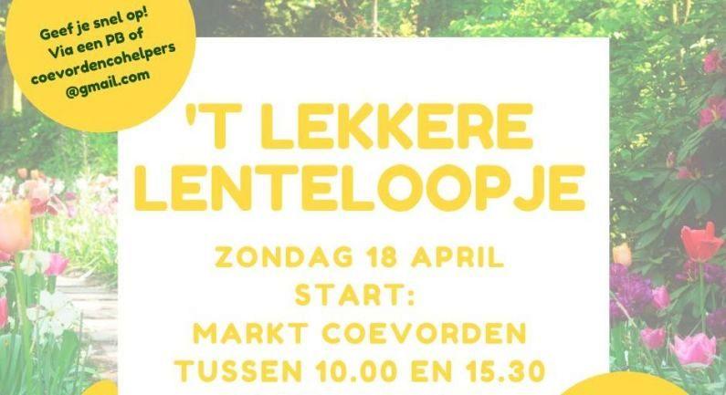 Lenteloopje op zondag 18 april (update)