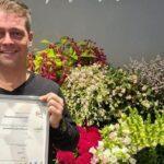 Zilveren keurmerk voor duurzame Bloembinderij Lubberman